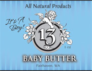 Baby Butter - It's a Boy label