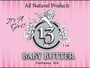 Baby Butter - It's a Girl label