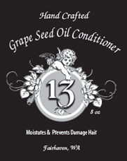 Grape Seed Oil Conditioner label