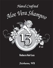 Aloe Vera Shampoo label